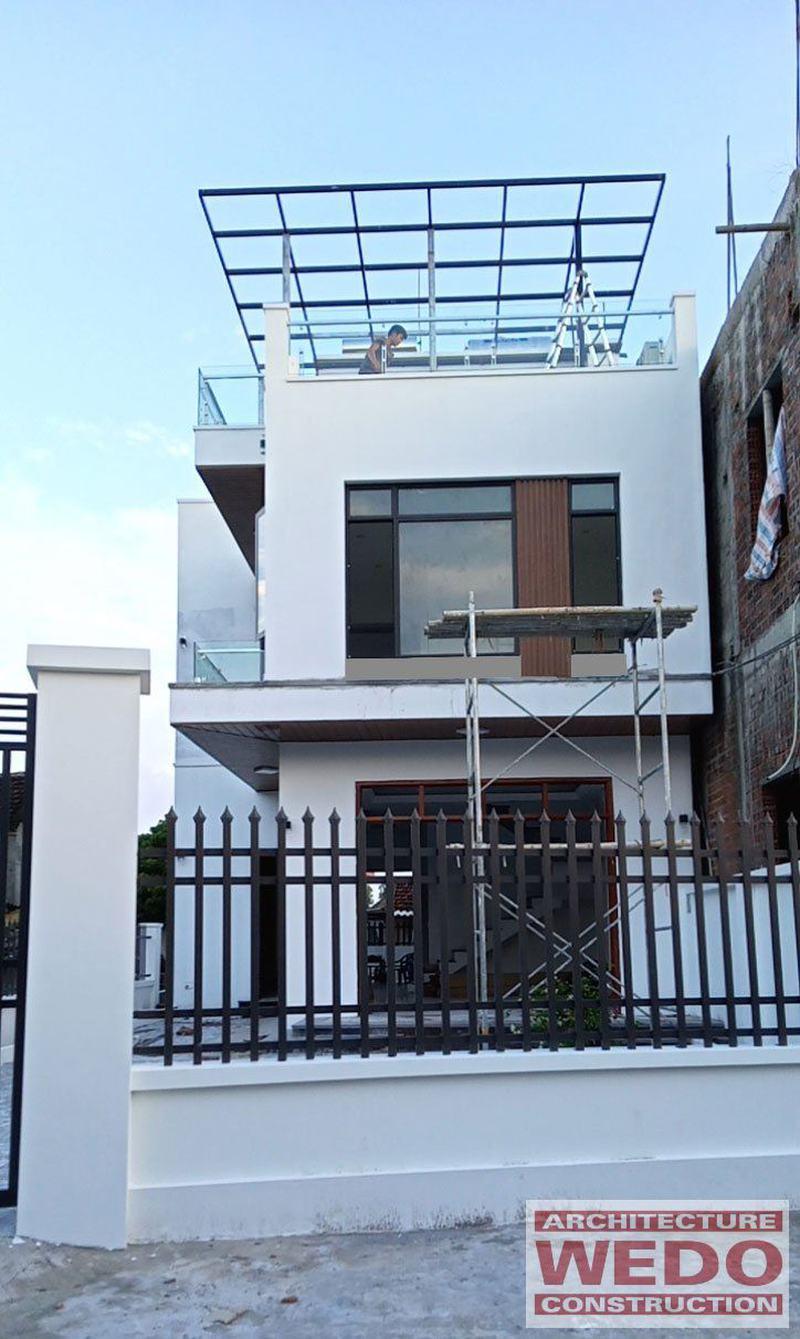 Nhà ở 2 tầng 1 tum thiết kế hiện đại tại Ý Yên, Nam Định
